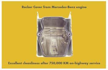 Shell Rimula R4 L asigura o curatenie excelenta a capacului culbutorului, chiar si dupa 750.000KM de serviciu in trafic de autostrada