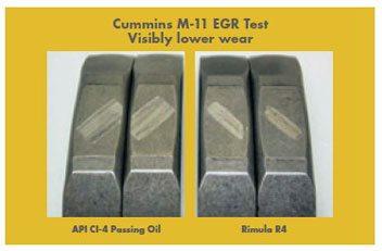Shell Rimula R4 rezista cu pana la 30% mai mult decat uleiurile rivale in testele de laborator pentru oxidare.