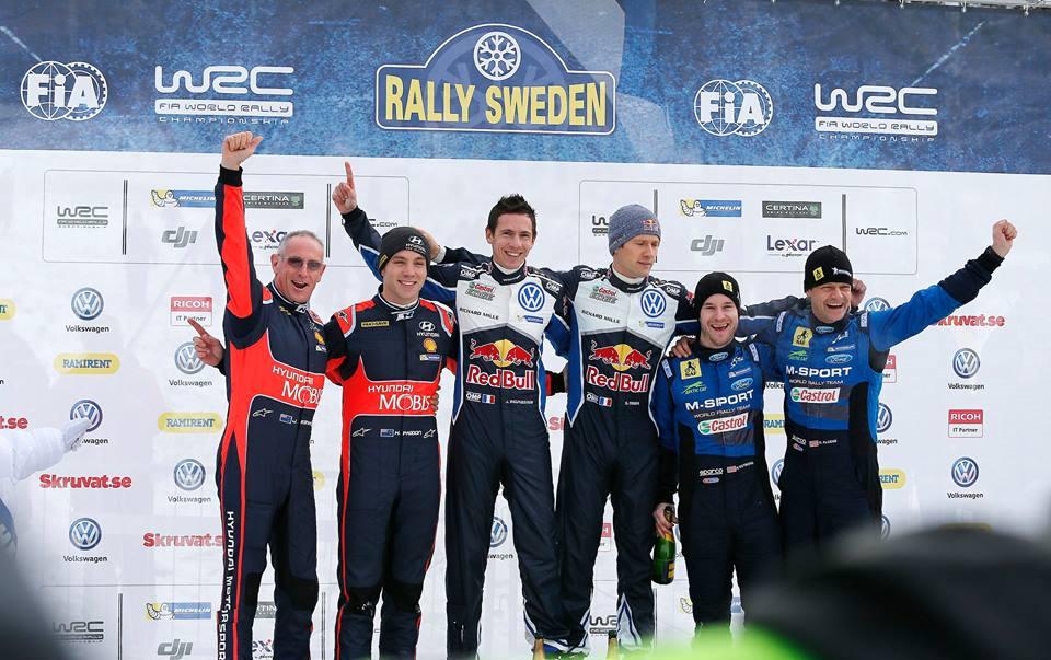 Iata podiumul de la Raliul Suediei