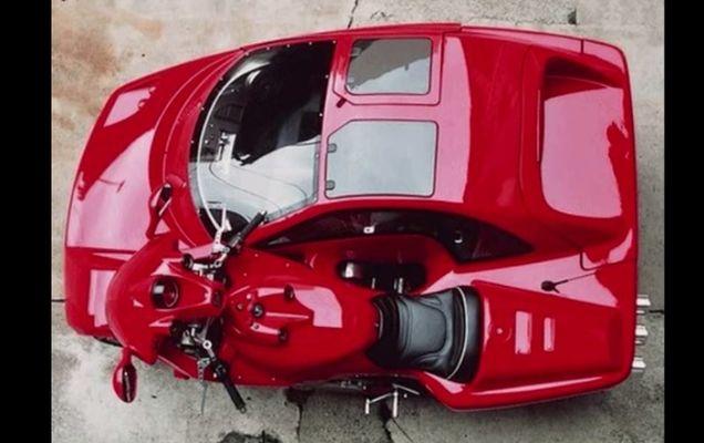 Automobilul doi in unu: motocicleta + masina
