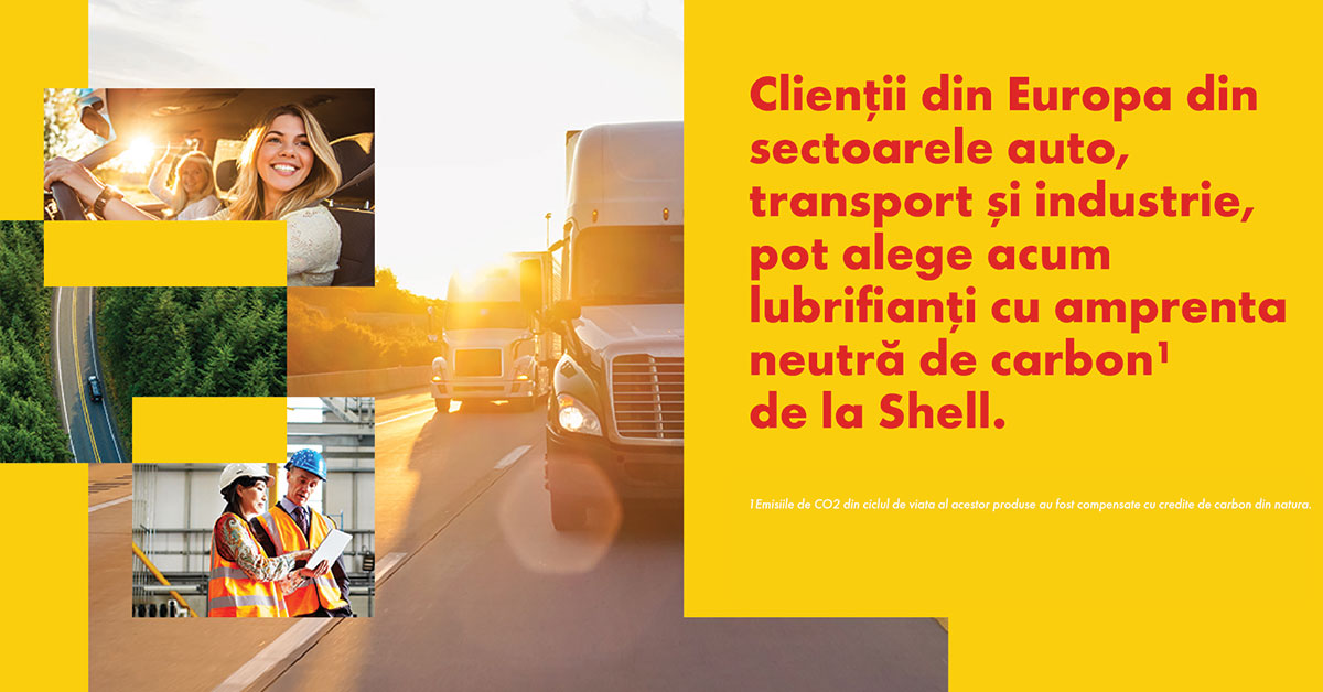 SHELL introduce in Europa un portofoliu de lubrifianti cu amprenta redusa de carbon